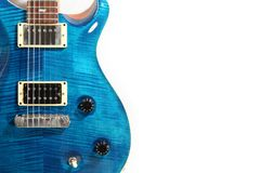 Electric guitar isolated. Blue matteo color Stock Photo