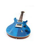 Electric guitar isolated. On white royalty free stock photos
