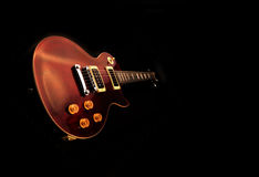 Electric guitar isolated. On the black backkground stock photos