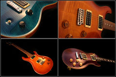 Electric guitar isolated Royalty Free Stock Photos