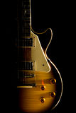 Electric guitar isolated on a black background. Royalty Free Stock Photos