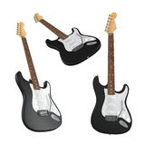 Electric guitar isolated. Multiple angles of view Royalty Free Stock Images