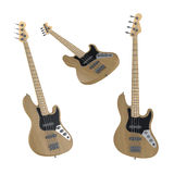Electric guitar isolated. Multiple angles of view Stock Images
