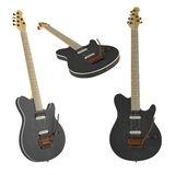Electric guitar isolated. Multiple angles of view Stock Photography