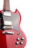 Electric guitar isolated on white background Royalty Free Stock Images