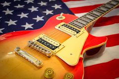 Electric guitar Les Paul royalty free stock images