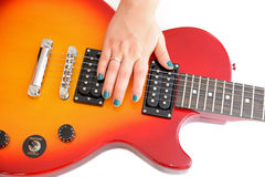 Electric guitar Les Paul sty Stock Images