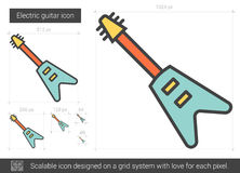 Electric guitar line icon. Royalty Free Stock Images
