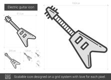 Electric guitar line icon. Royalty Free Stock Image