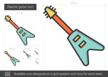 Electric guitar line icon. Stock Image