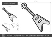 Electric guitar line icon. Royalty Free Stock Photo