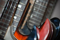 Electric Guitar Line-Up Stock Photography