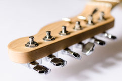 Electric guitar machine-heads and headstock isolated on Stock Photo