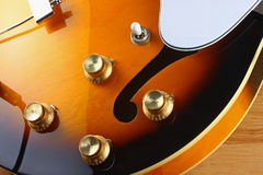 Electric Guitar Macro Stock Image