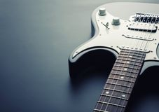 Electric guitar. Modern electric guitar. Toned image Royalty Free Stock Image