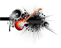 Electric Guitar Music Background Royalty Free Stock Images