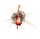 Electric Guitar Music Background Stock Photo