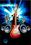 Electric Guitar Music Background Stock Images