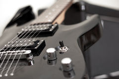 Electric guitar, musical instrument Royalty Free Stock Photos