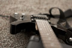 Electric guitar, musical instrument Stock Photo