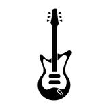 Electric guitar musical instrument pictogram Royalty Free Stock Photos
