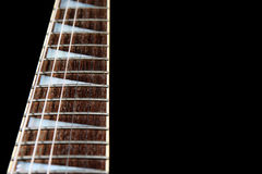 Electric guitar neck Royalty Free Stock Images