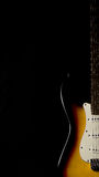 Electric guitar neck detail Royalty Free Stock Photos