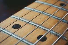 Electric guitar neck detail, music symbol Stock Photo