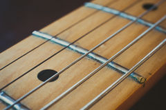 Electric guitar neck detail, music symbol Royalty Free Stock Images