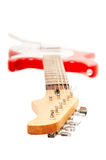 Electric guitar, neck in the foreground Royalty Free Stock Photos