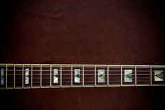 Electric guitar neck  horizontal detail Stock Photography