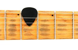 Free Electric Guitar Neck With Black Mediator Royalty Free Stock Photography - 7003937