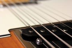 Electric guitar. New sunburst tele style electric guitar Stock Photos