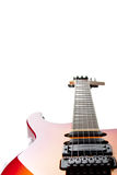 Electric Guitar On White Stock Photo