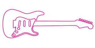 Electric guitar outline  Stock Photos