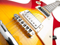 Electric guitar over white background Royalty Free Stock Image