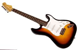 Electric guitar over white background Royalty Free Stock Photography
