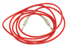 Electric guitar patch cable Royalty Free Stock Images