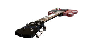 Electric Guitar in Perspective Stock Photo