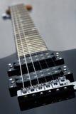 Electric guitar. Photo of details of an electric guitar close up stock photos