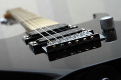 Electric guitar. Photo of details of an electric guitar close up royalty free stock photos