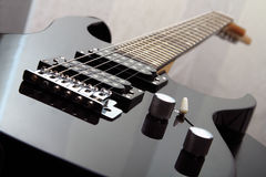 Electric guitar. Photo of details of an electric guitar close up stock images