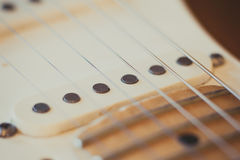 Electric guitar pick up detail, music symbol Stock Photography