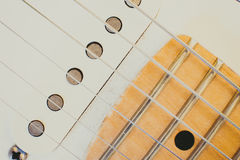 Electric guitar pick up detail, music symbol Royalty Free Stock Photography