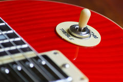 Electric guitar pick up selector Stock Photography