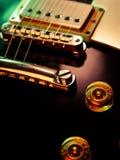 Electric guitar pickup and bridge stock images