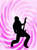 Electric guitar player stock illustration