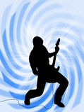 Electric guitar player Stock Image