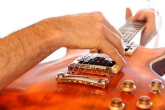 Electric guitar player Stock Images