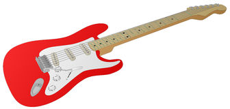 Electric Guitar (Red) Stock Photography